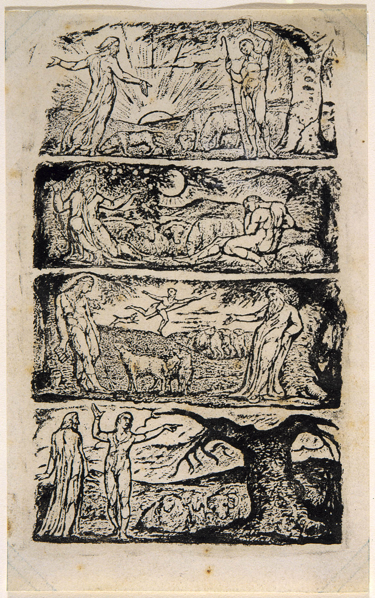 A Relief Etching Of Blake S Virgil Illustrations Robert