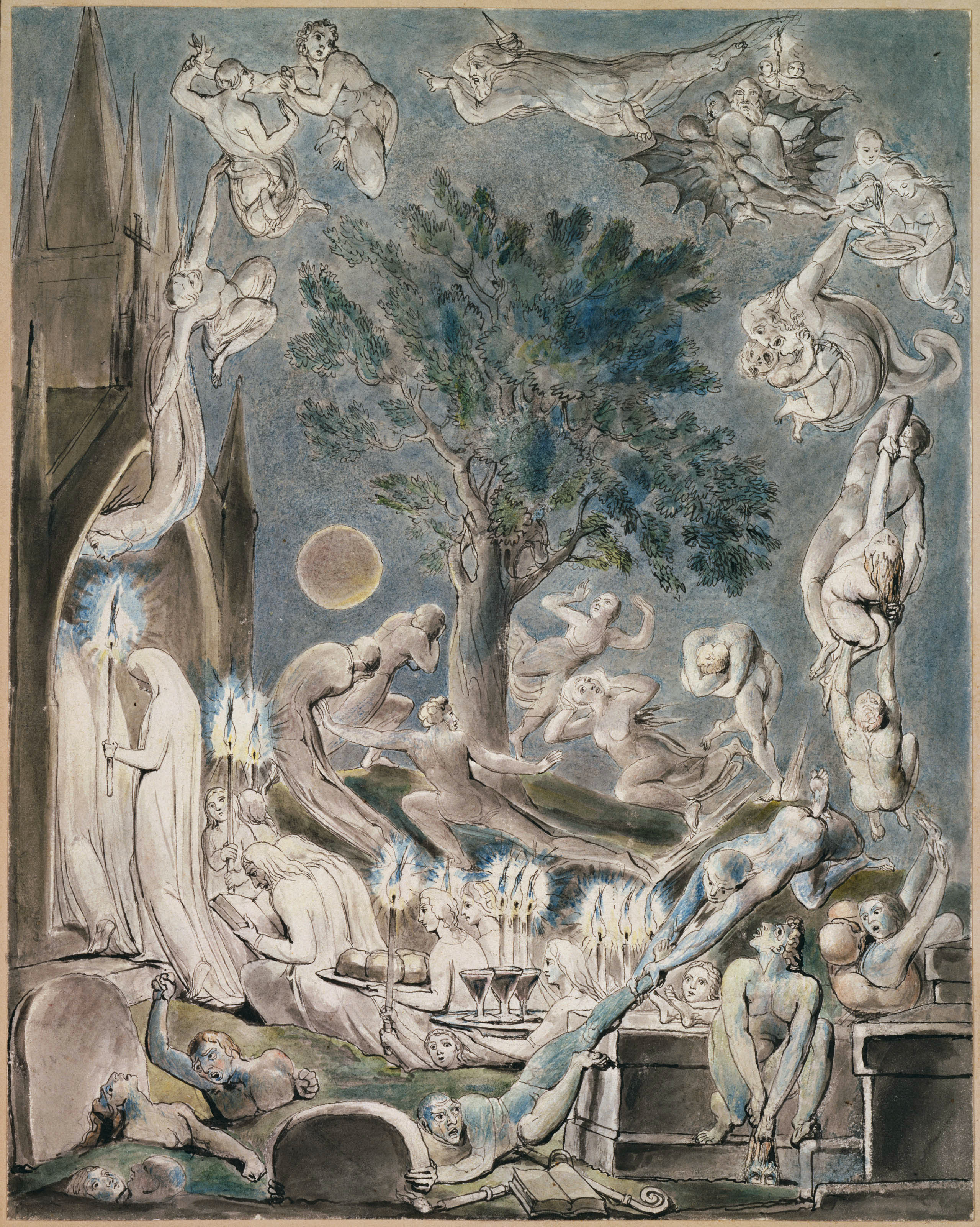 The Good Old Man Dying The Grave William Blake Engravings Fine Art Print