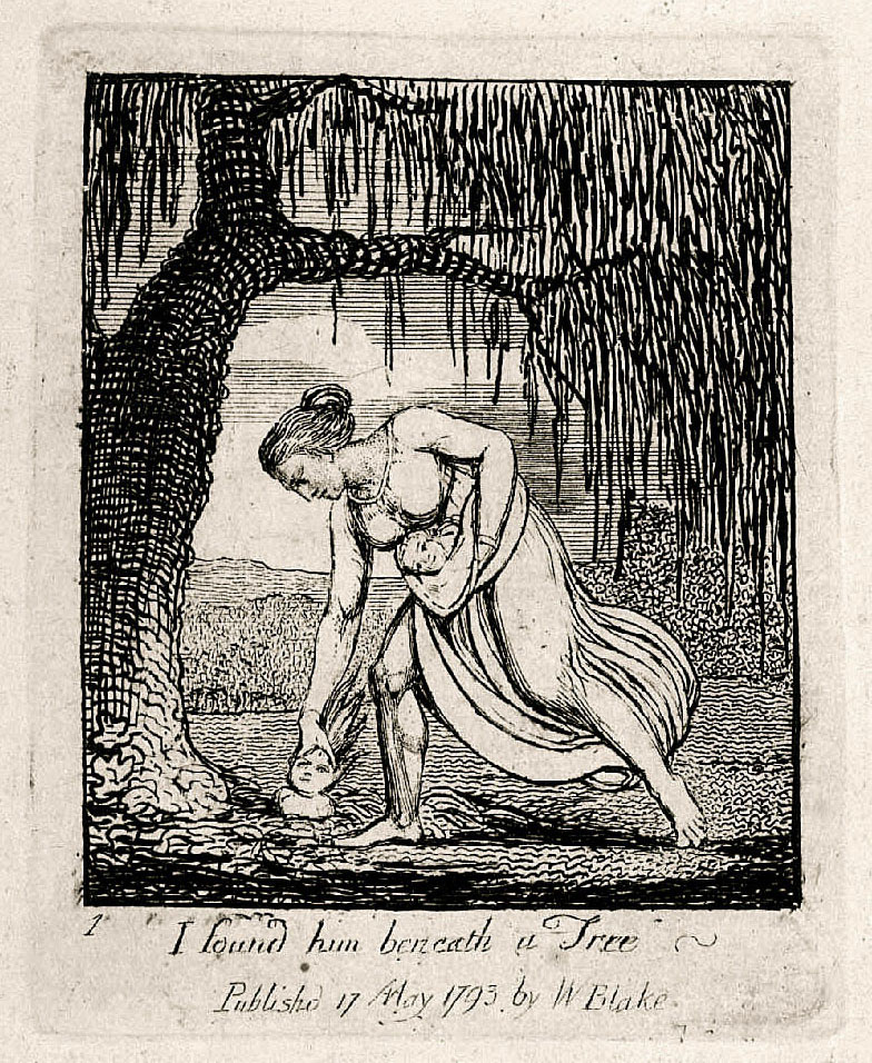1 I found him beneath a Tree 	Publishd 17 May 1793 by W Blake