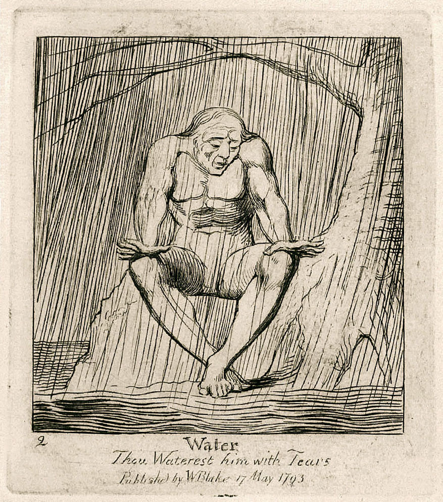 2 Water Thou Waterest him with Tears Publishd by WBlake 17 May 1793