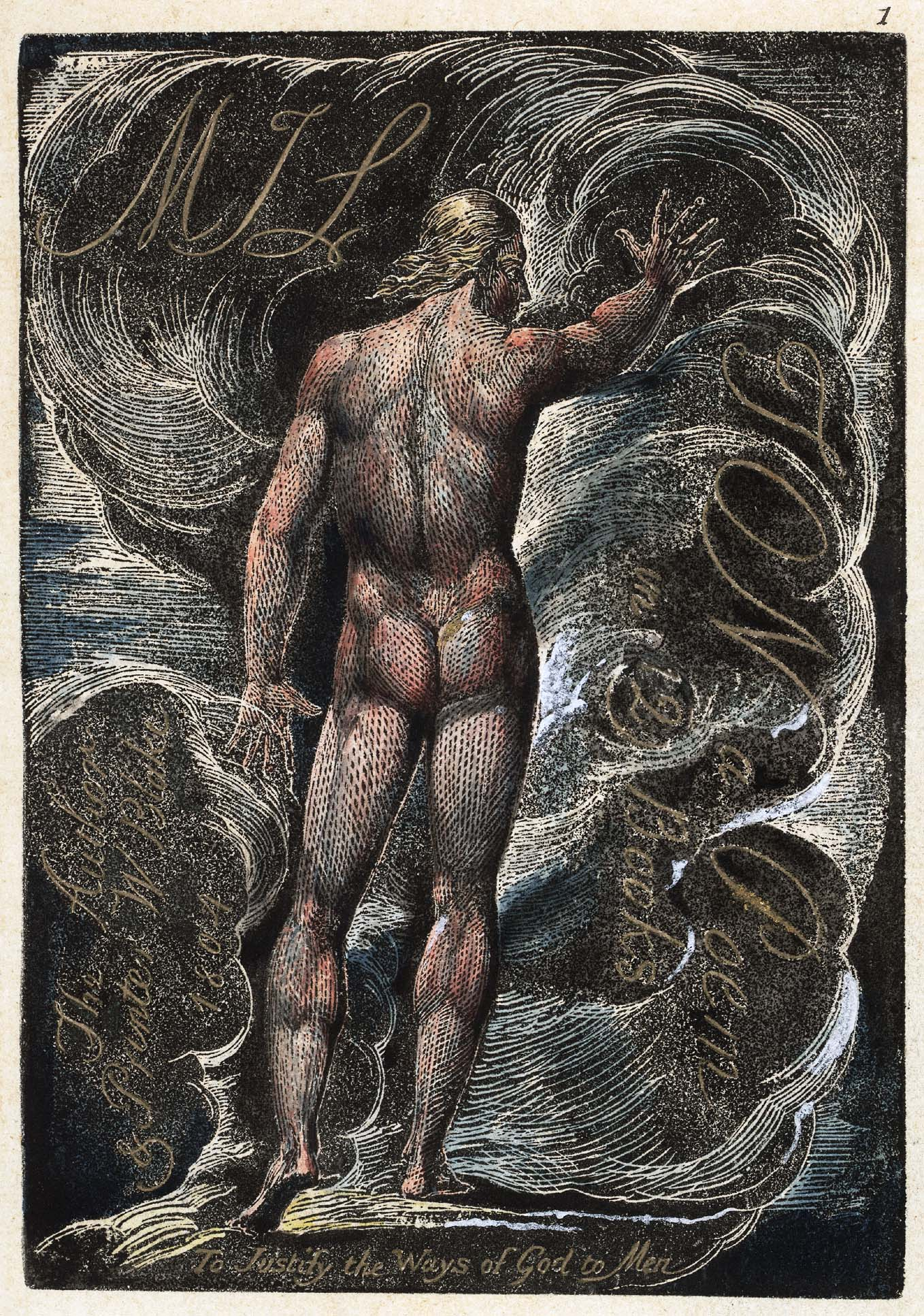 1 MIL TON a Poem in 12 Books The Author & Printer W Blake 1804 To Justify the Ways of God to Men