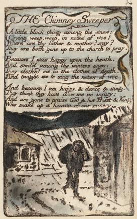 The Chimney Sweeper original page 1795.